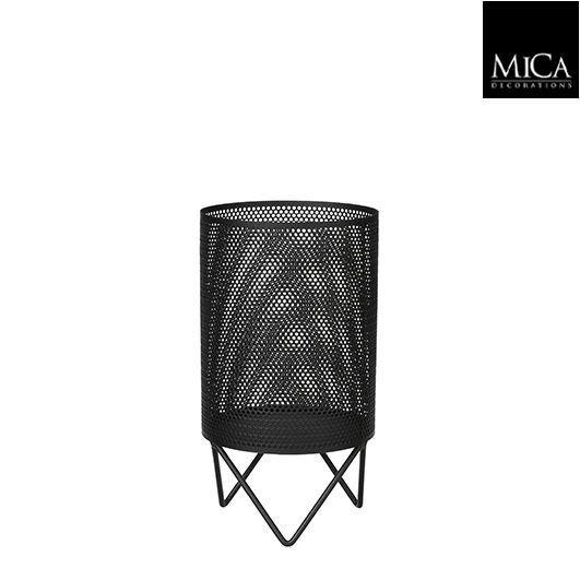 Mica Teelichthalter schwarz 11cm