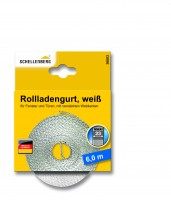 Rolladengurt 23 mm 6,0 m weiss