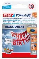 Tesa Powerstrips Deco 16 Strips, transparent