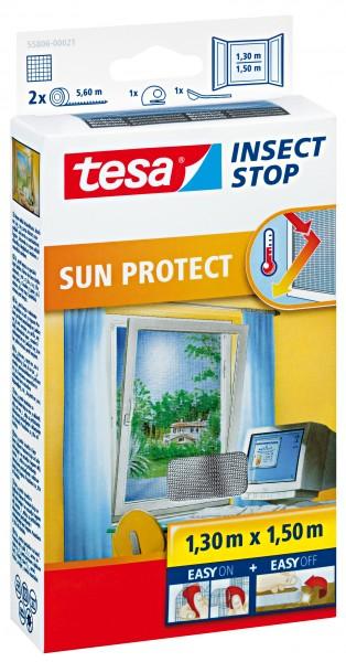 tesa® Fliegengitte Sun Protect mit Sonnenschutz, anthrazit, 1,3x1,5m