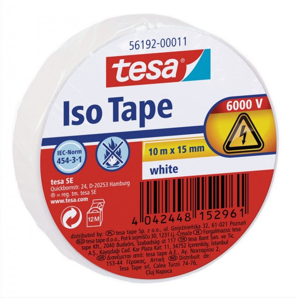 Tesa Isolierband 10 m x 15 mm weiss